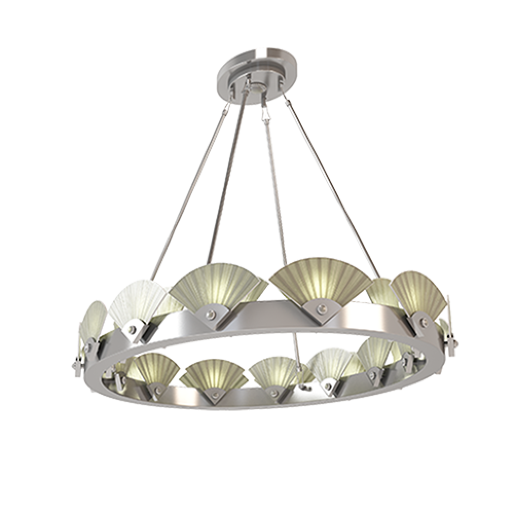 SPECTRUM oval chandelier for MARI IANIQ