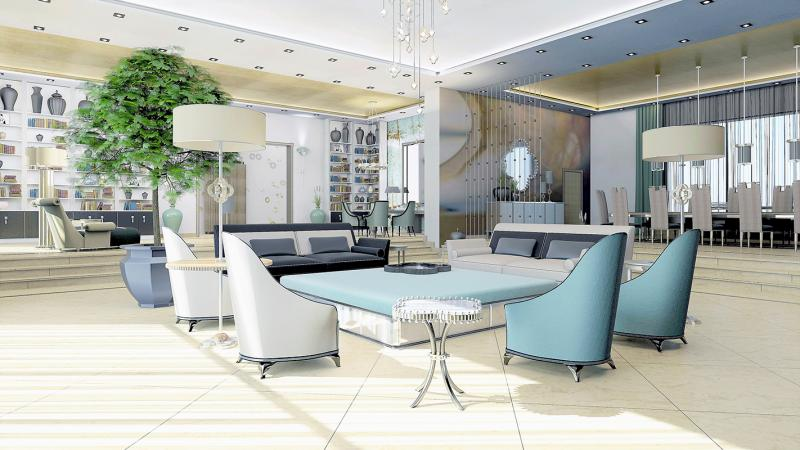 Dubai projeject living area